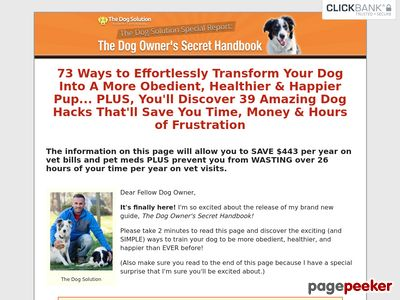 The Dog Owner's Secret Handbook
