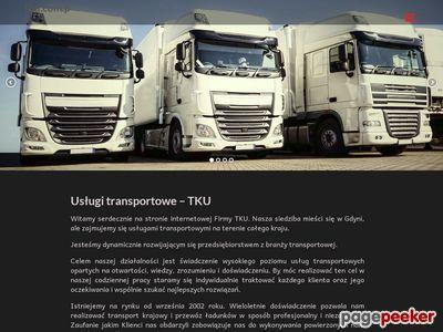 Usługi transportowe : tku.com.pl
