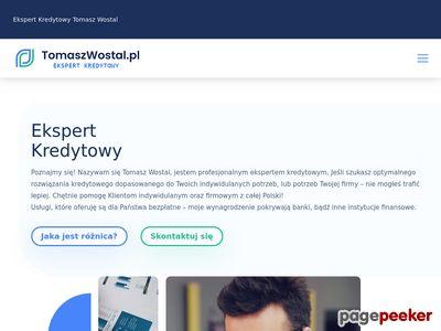 Doradca kredytowy Tomasz Wostal