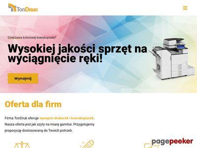 TonDruk - tonery, drukarki, dzierżawa drukarek, serwis drukarek