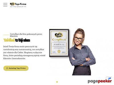 Certyfikaty dla firm - top-firma.pl