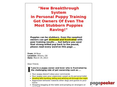 Emergency Puppy Training Guide