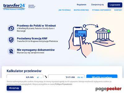 Transfer24 - Szybkie internetowe przelewy do Polski