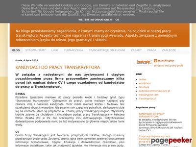 Blog o Transkrypcjach | Blog Transkryptora