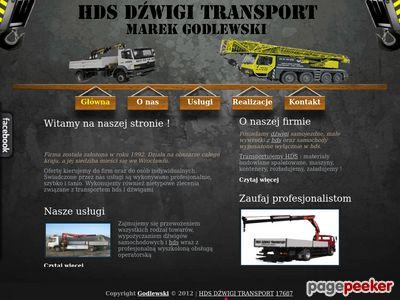 Transport HDS Dźwigi Wrocław