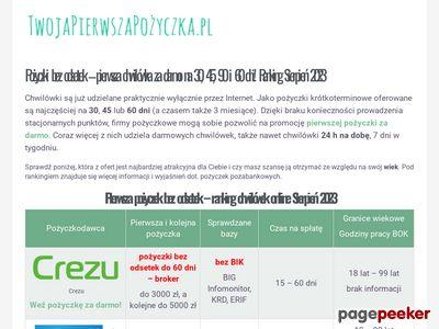TwojaPierwszaPożyczka.pl - porównanie chwilówek