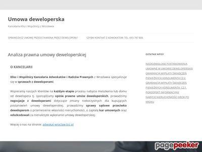 Analiza umowy deweloperskiej - umowa-deweloperska.com/