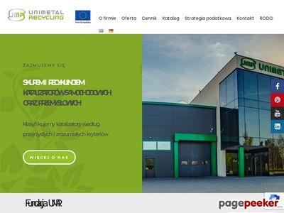 Skup katalizatorów - unimetalrecycling.pl