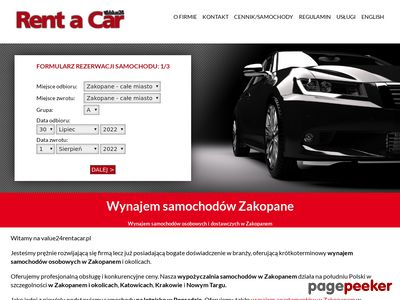 Rent a car poland