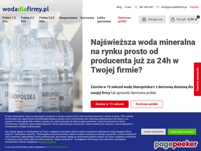 Dostawa wody dla firm
