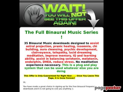 Binaural Music One Time Offer
