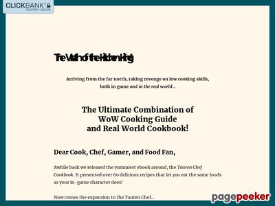 Wrath of the Kitchen King – Down Home MMO Cooking