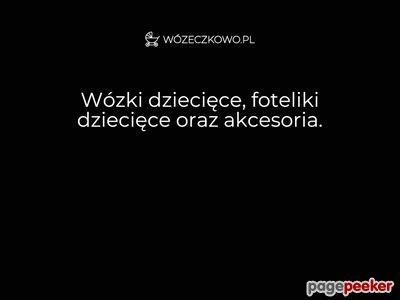 Wózki dla dzieci - Wózeczkowo.pl
