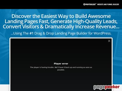 ProfitBuilder – The #1 Drag & Drop Marketing Page Builder for WordPress