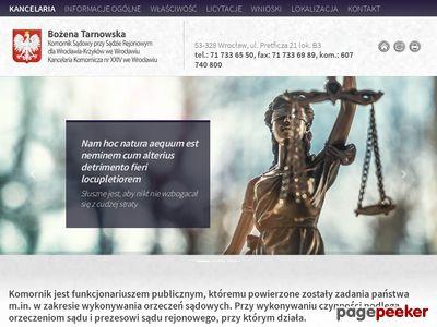 Komornik Sądowy Bożena Tarnowska