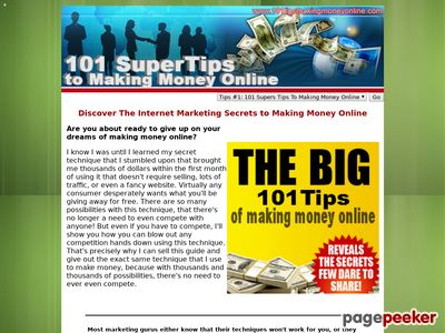 101tipsmakingmoneyonline.com – Discover The Internet Marketing Secrets To Making Money Online