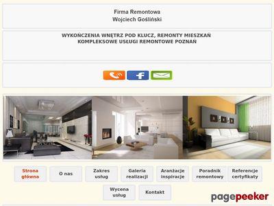 Remonty mieszkań, usługi w Poznaniu