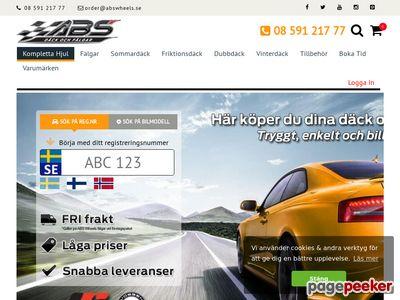 Sk�rmdump av abswheels.se