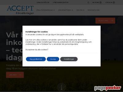 Skärmdump av accept.se