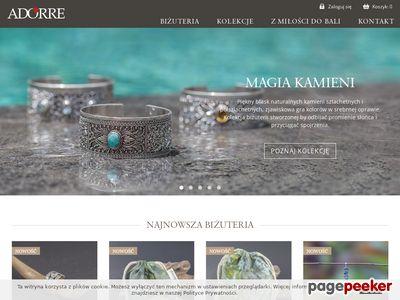 Biżuteria srebrna Adorre