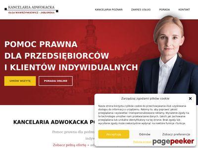 Olga Wawrzynkiewicz Adwokat w Poznaniu