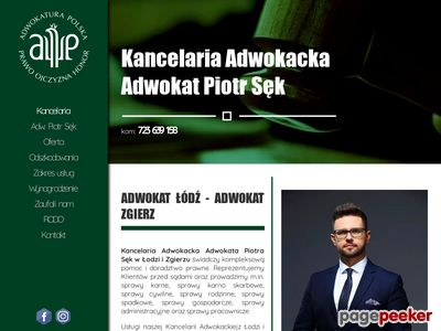 Adwokat Łódź Adwokat Zgierz - Piotr Sęk
