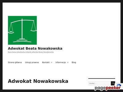 Adwokat Gdańsk - Adwokat Beata Nowakowska