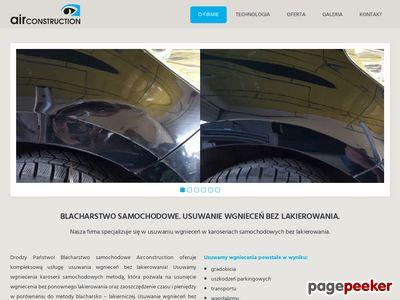 Usuwanie wgnieceń -airconstruction.pl