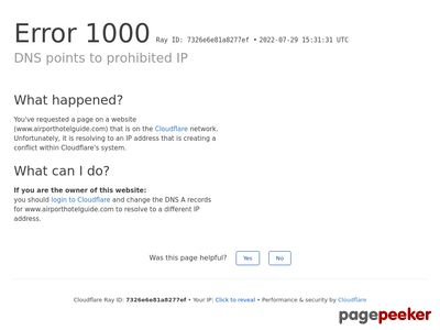 Airport Hotels Guide - Your source for a complete listing of hotels near major a Screenshot