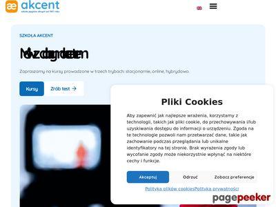 Zapoznaj się z ofertą szkoły Akcent.