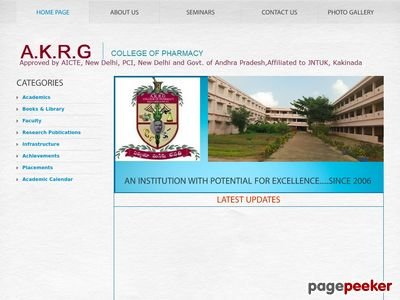 A.K.R.G COLLEGE OF PHARMACY