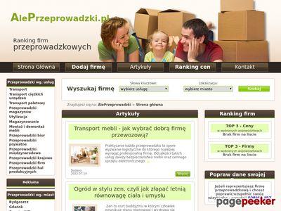 Przeprowadzki Opole, Poznań, Wrocław, Łódź - ranking firm