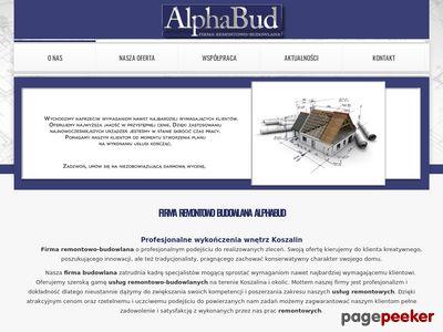 AlphaBud firma remontowo-budowlana Koszalin