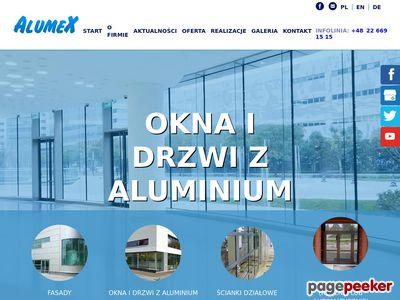 PRZEDSIĘBIORSTWO PRODUKCYJNO HANDLOWE ALUMEX TOMASZ ROJDA drzwi aluminiowe warszawa