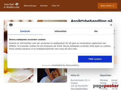 Skärmdump av annahudvard.se