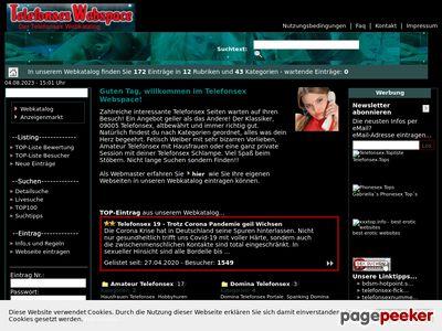 Détails : Telefonsex Webspace - Kostenlos Telefonsexseiten eintragen