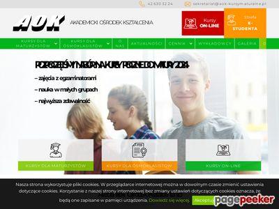 Kurs gimnazjalny w Łodzi