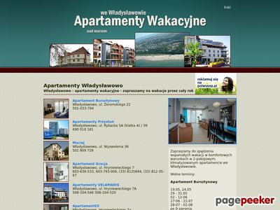 Wakacyjne apartamenty we Władysławowie