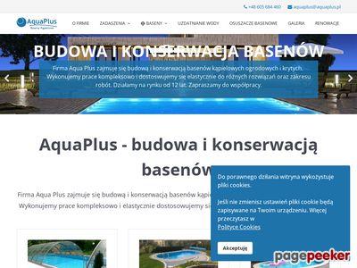 AquaPlus – specjaliści od basenów kąpielowych