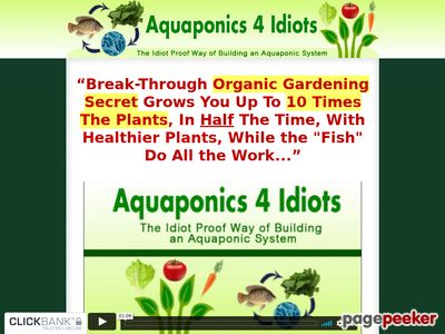Aquaponics 4 Idiots - The Idiot Proof Way of Building an Aquaponic System