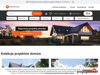 Archeton.pl - prawie 900 projektów domów