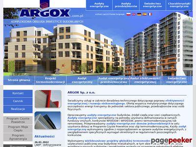 Świadectwa Energetyczne, Audyty - Argox