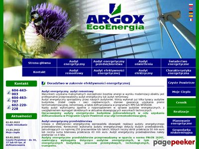 Świadectwa Energetyczne Argox Eco Energia
