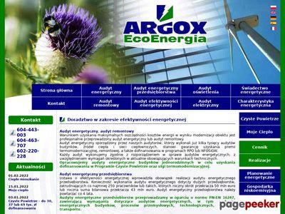 Świadectwa energetyczne – Argox Eco Energia