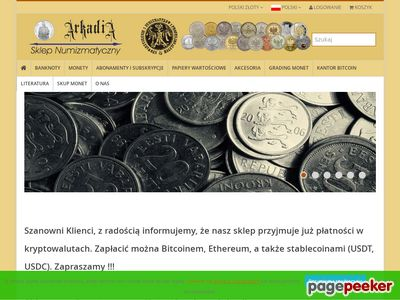 Arkadia-Sklep.pl - monety kolekcjonerskie