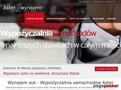 Wypożyczalnia samochodów osobowych Lublin - aster-wynajem.pl