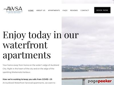 Auckland Waterfront Serviced Apartments New Zealand Screenshot
