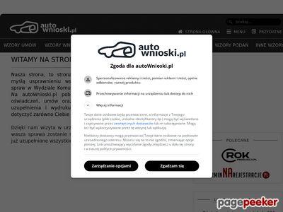 autoWnioski.pl - wzory wniosków, umów zakupu i darowizny