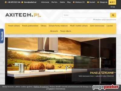 Axitech – panele szklane, obrazy na plexi