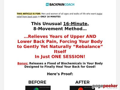 Back Pain Relief For Life –